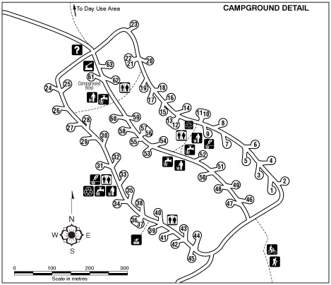 blanket creek campground map