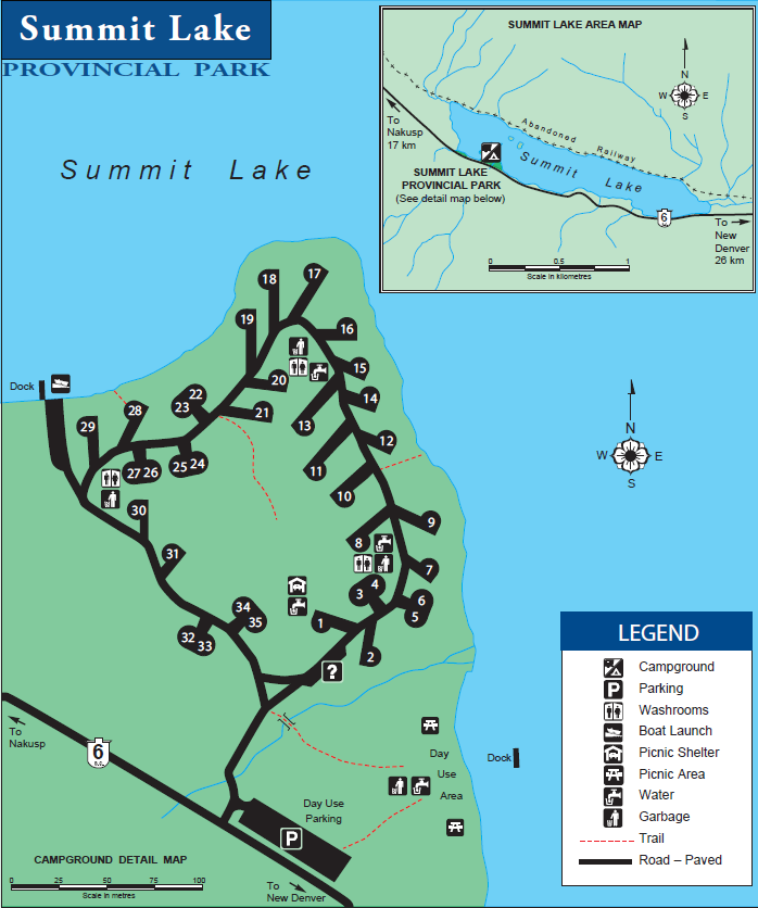 summit lake campground map