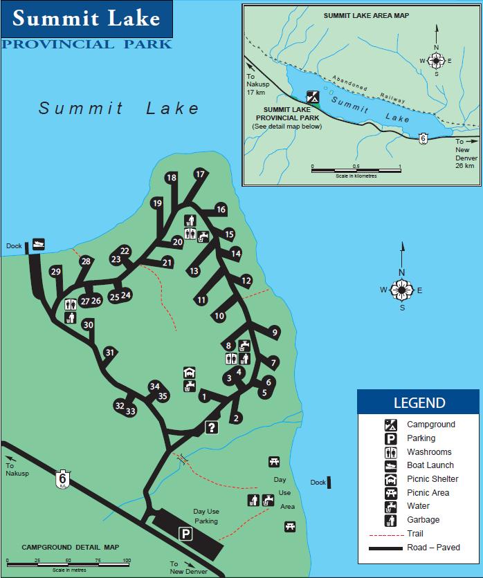 summit lake campground map