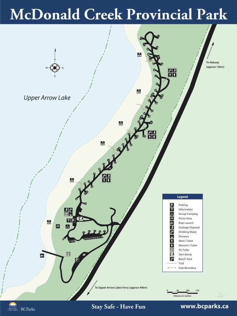 mcdonald creek provincial park campground