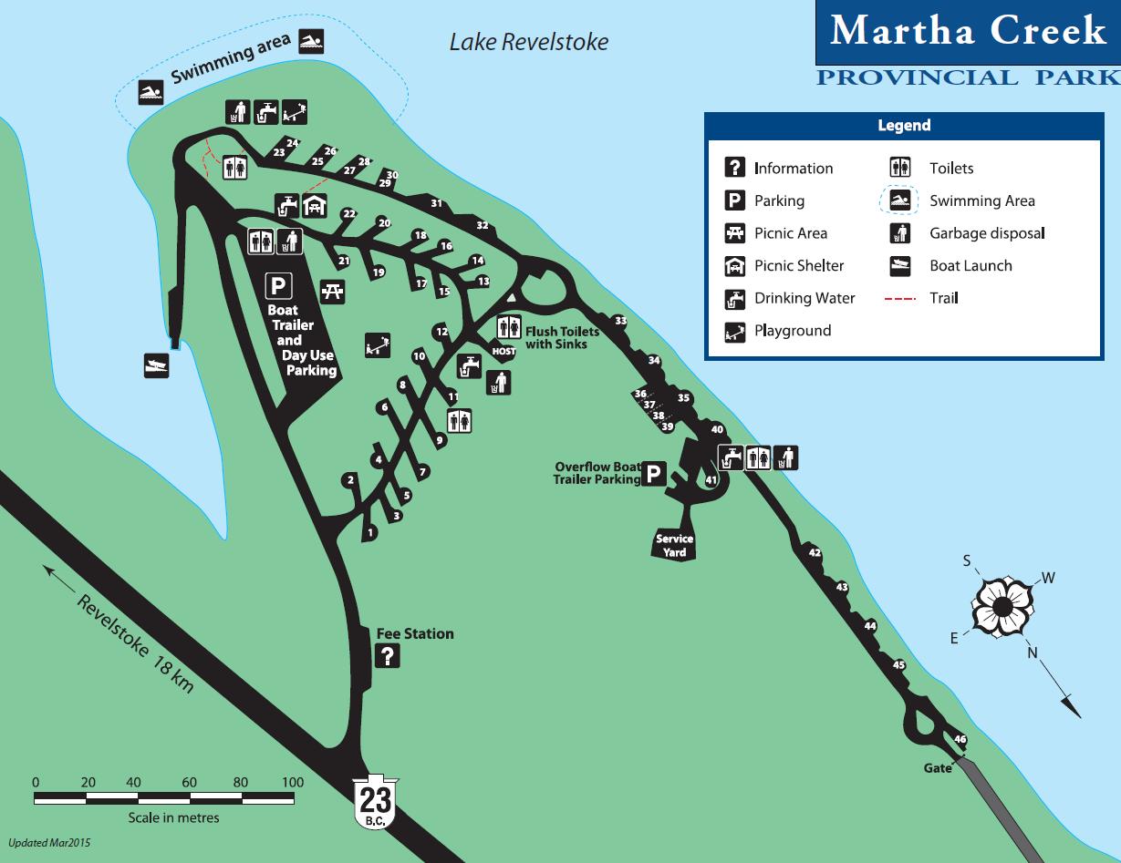 martha creek campground map